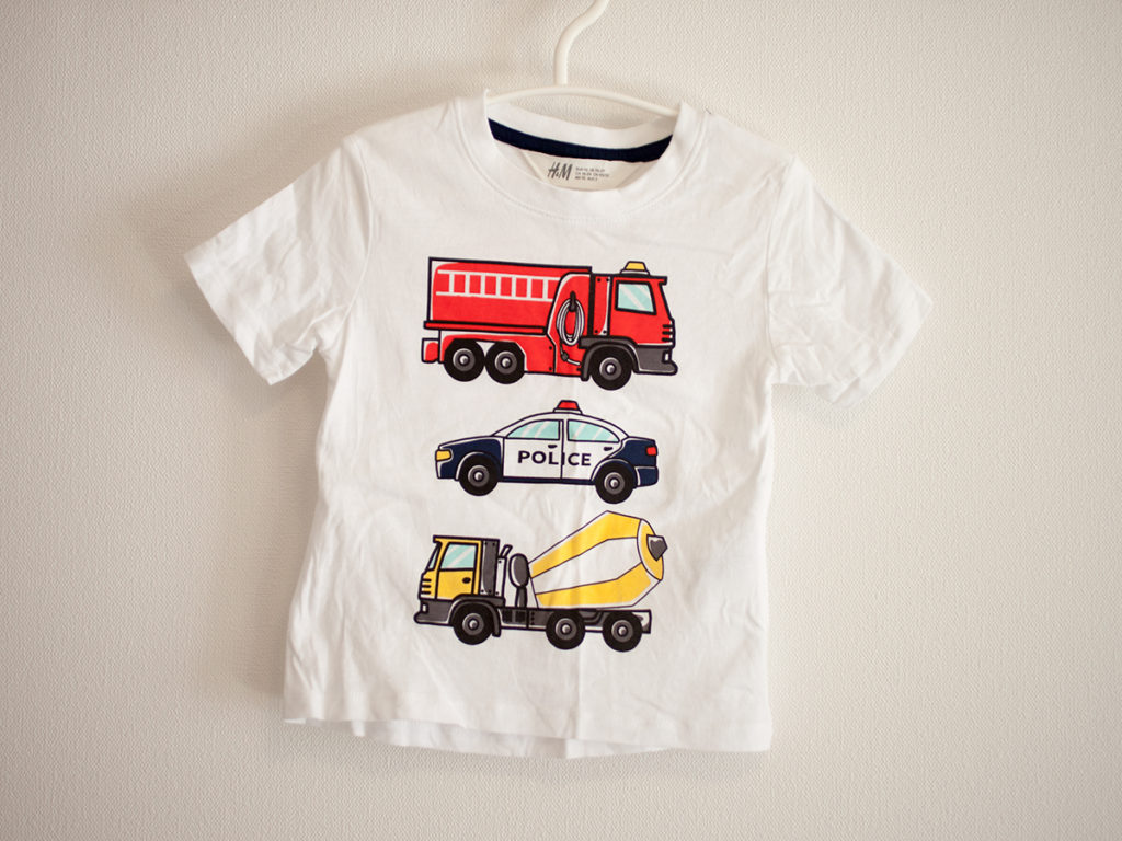H&M Tシャツ はたらく乗り物