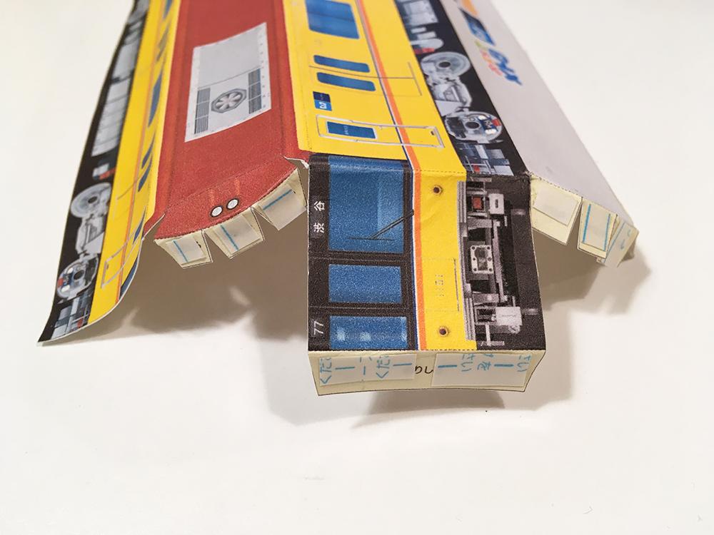 東京メトロペーパークラフト 銀座線1000系 前面の丸みの作り方