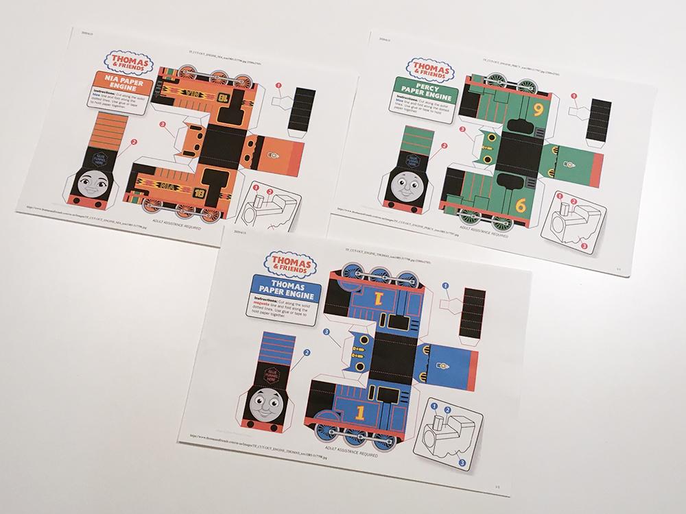 【無料ダウンロード】機関車(きかんしゃ)トーマス パーシー ニア ペーパークラフト Thomas and Friends official paper craft