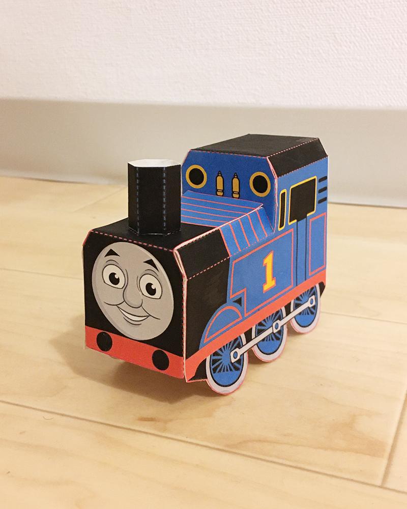 【無料ダウンロード】機関車(きかんしゃ)トーマス ペーパークラフト Thomas and Friends official paper craft