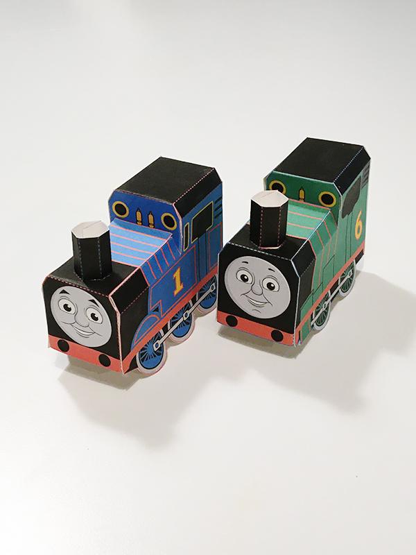 【無料ダウンロード】機関車(きかんしゃ)トーマス パーシー ペーパークラフト Thomas and Friends official paper craft