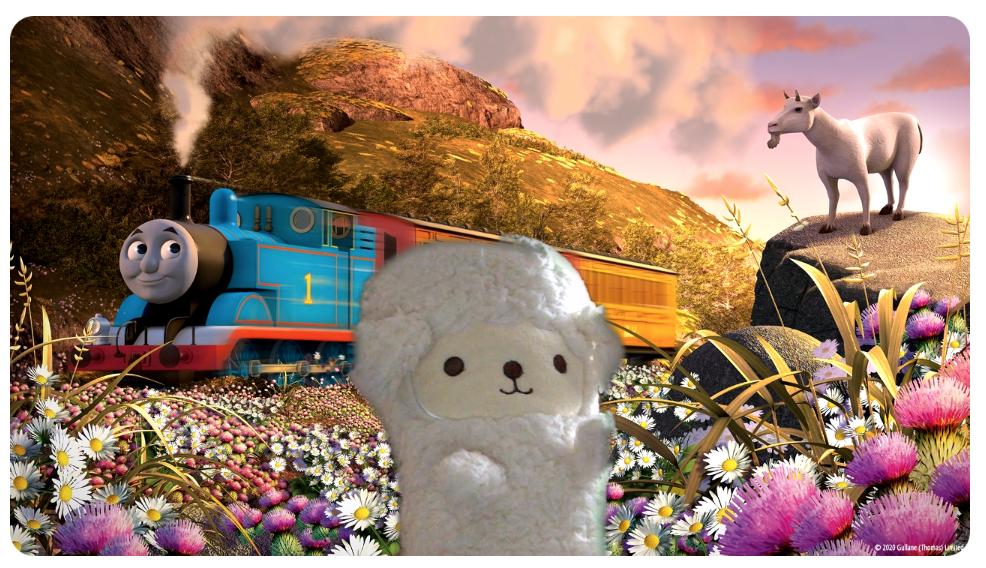 株式会社ソニー・クリエイティブプロダクツ きかんしゃトーマスの画像をzoomのバーチャル背景に設定してみた