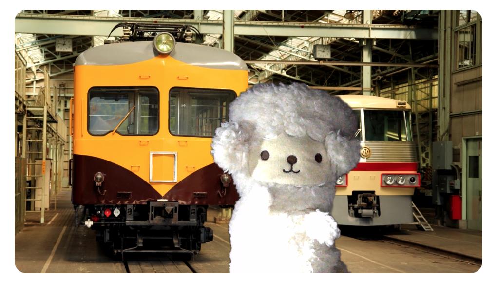 西武鉄道の背景をzoomのバーチャル背景に設定してみた