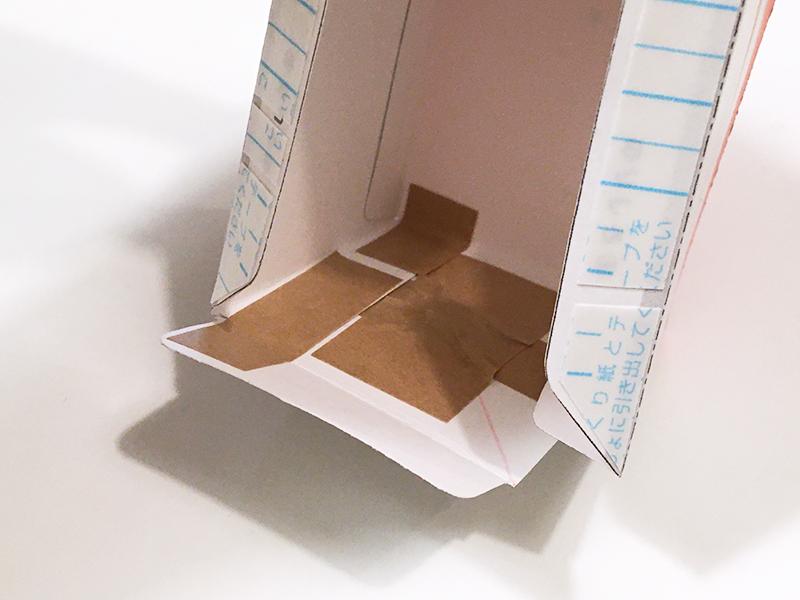 とれたんずのペーパークラフト「こまちちゃん」と「はやぶさくん」を連結できるようにしてみた 両面テープを剥がし後方を留める