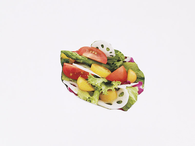 げんき2020年7・8月号のふろく「だいすき!キッズプレート」サラダ