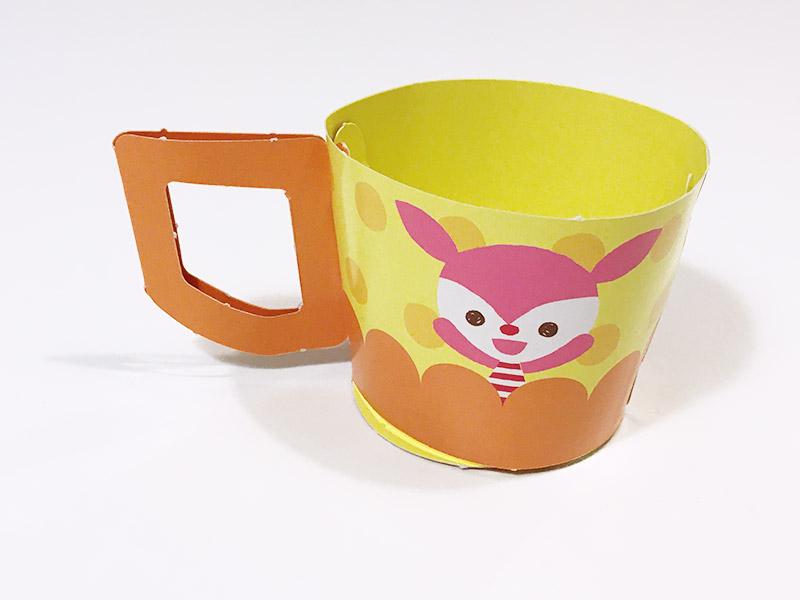 げんき2020年7・8月号のふろく「だいすき!キッズプレート」紙で作るマグカップ