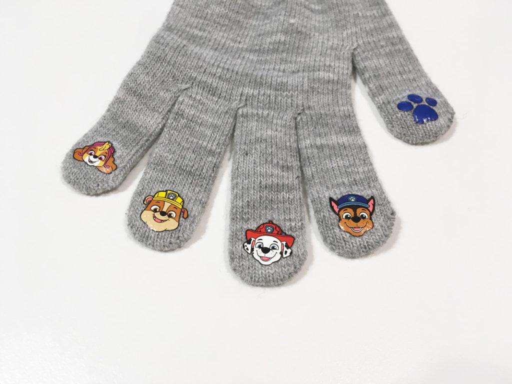 パウパトロールH&Mの手袋 paw patrol gloves detail