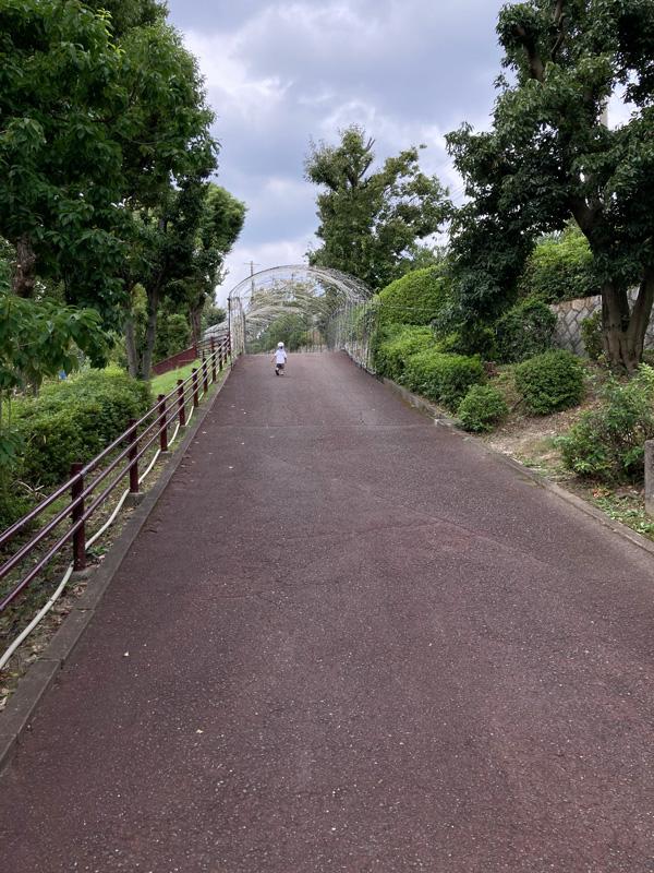 ひらかたパークは坂道が多いのが子どもには楽しいらしい
