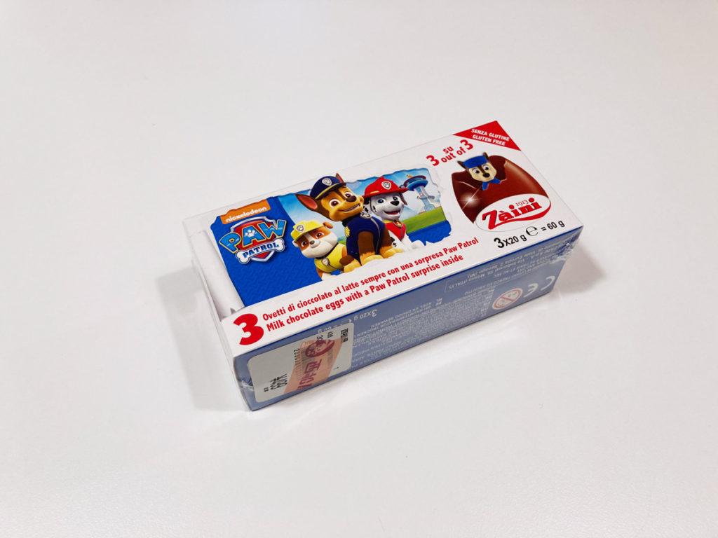 【西松屋購入品】パウパトロールのZaini製チョコエッグ パッケージ前面