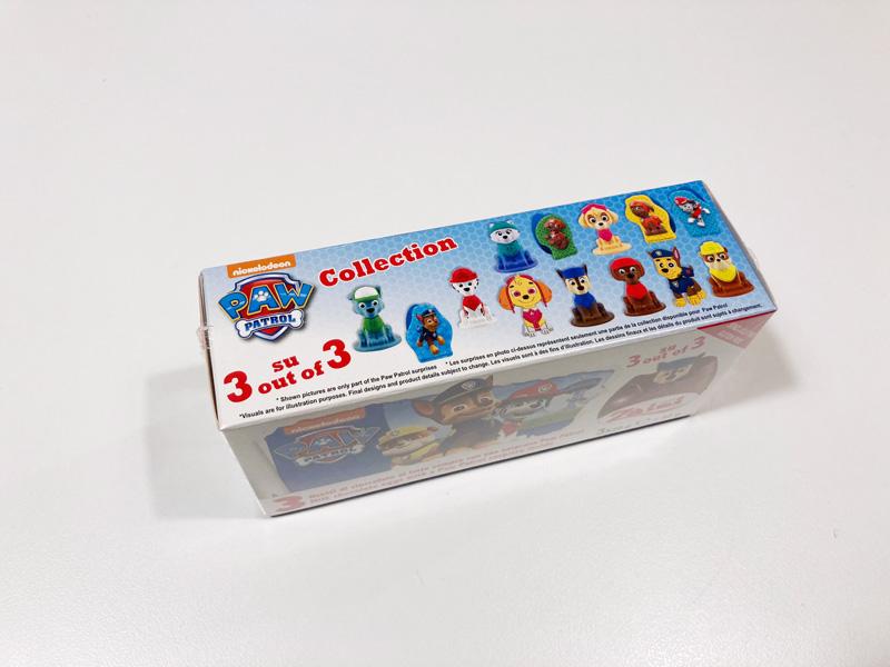 【西松屋購入品】パウパトロールのZaini製チョコエッグ パッケージ上部