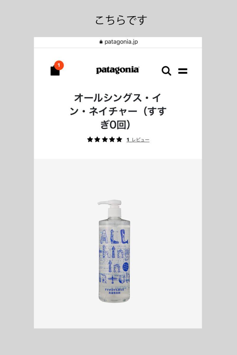 万能洗剤「オールシングス・イン・ネイチャー」公式オンラインストアでパタゴニア(Patagonia)のグッピーフレンド・ウォッシング・バッグ(Guppyfriends Washing Bag)買ってみた
