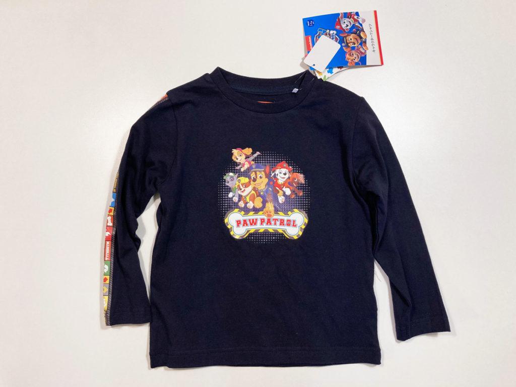 【サイズ感・素材レビュー】しまむら実店舗で購入したパウパトの長袖Tシャツ ネイビー