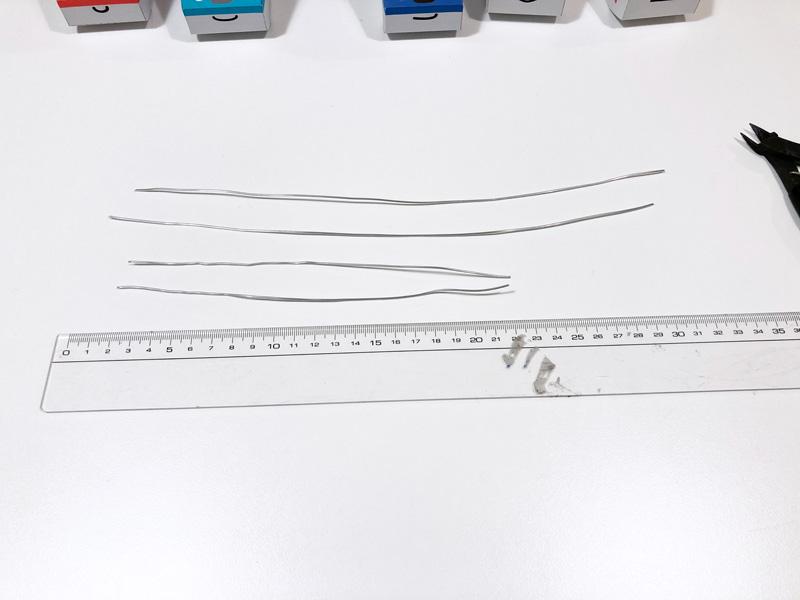 【簡単工作】とれたんずのペーパークラフトでモビール自作してみた アルミ製ワイヤーをカット