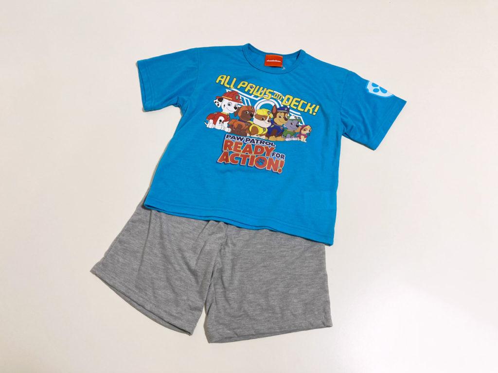 【西松屋購入品:子ども服】パウパトロールのプリントルームウェア(パジャマ・部屋着)2021年春夏半袖半ズボンセットアップ