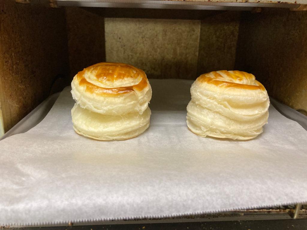 ダイソー購入品 製菓用品レシピ付き 世界のおやつ フランス「ポワソン・ダブリル」パイの作り方 型抜きしたパイシートを重ねてトースターで焼く