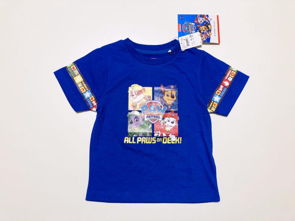 イオンモール子供服売場購入品 パウパトロール 半袖Tシャツ 120ブルー