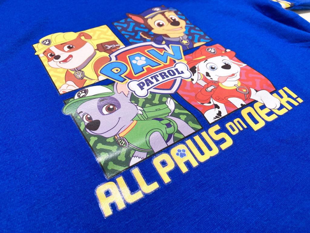イオンモール子供服売場購入品 パウパトロール 半袖Tシャツ 120ブルー  ロッキーの柄はめずらしいかも